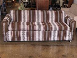 1970s Southwestern-Print Sleeper Sofa
