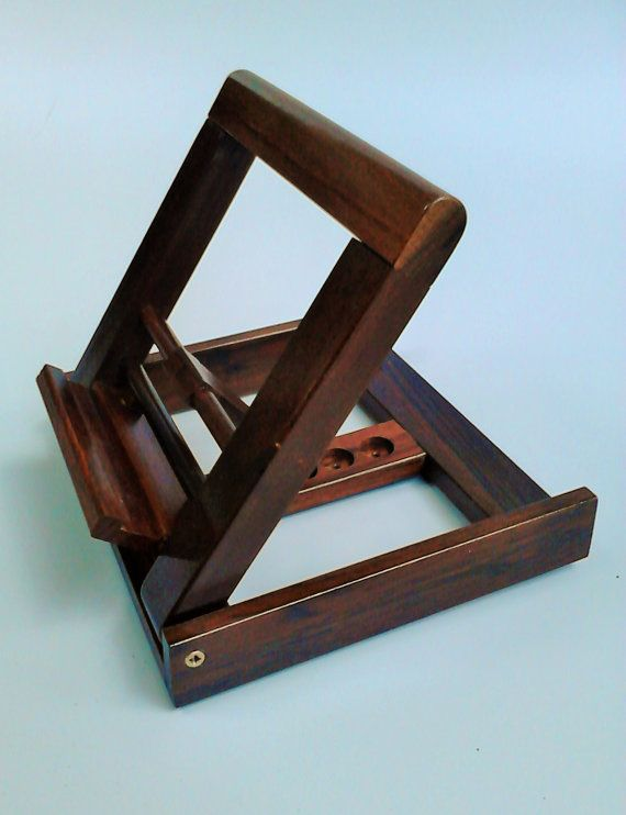 Small Portable Solid Wood Music Stand / Book Stand / ipad stand / ebook stand with Adjustable Angle - Coupon - Natural Color