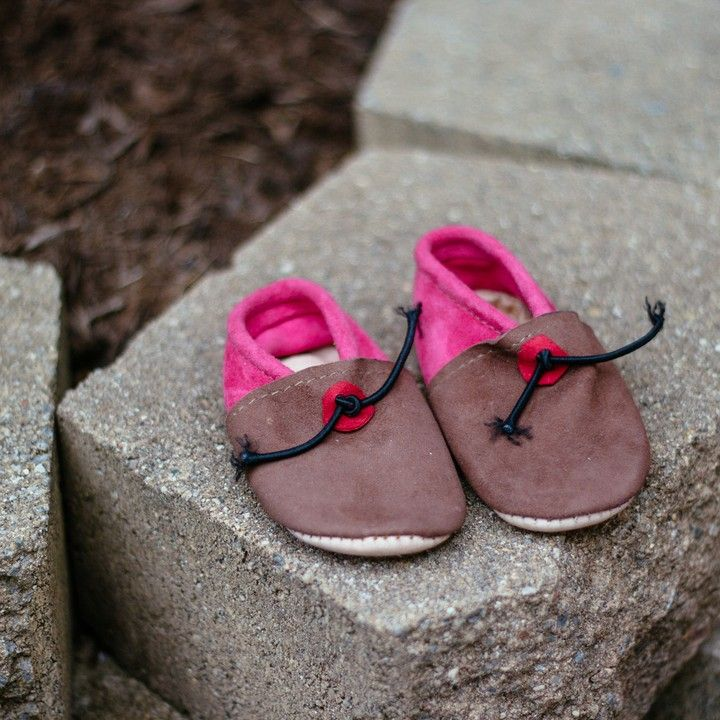 Handmade Suede Leather Baby Moccasins 18 Months from Trouvaille Boutique