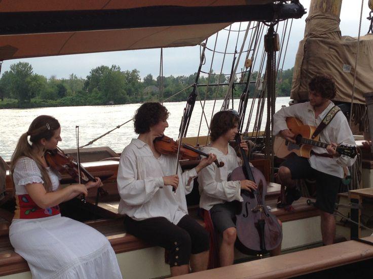 Metis Quartet aboard the Lynx.