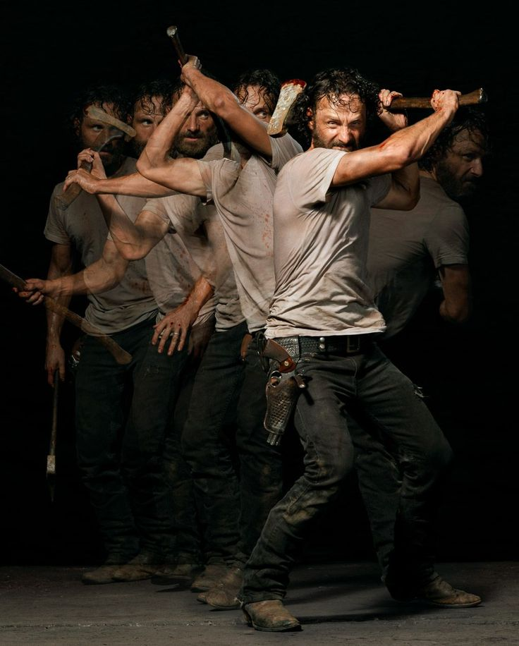 "Andrew Lincoln as Rick Grimes in ""The Walking Dead"": Season Five."