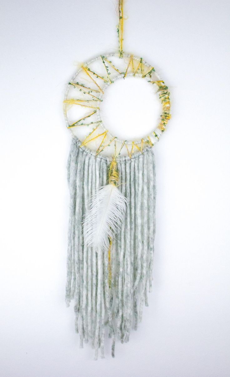 Holiday Moon Dream Catcher Yellow Dream Catcher