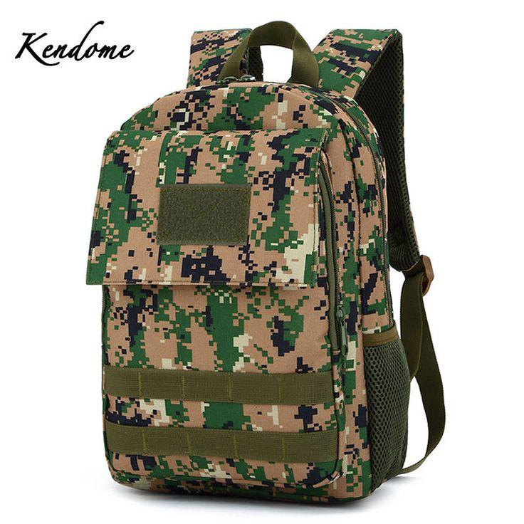 Tactical Camouflage Mini Military Backpack Men Women Waterproof Nylon Mountain Climbing Rucksack Outdoor Sports Bags XA214WD #Affiliate
