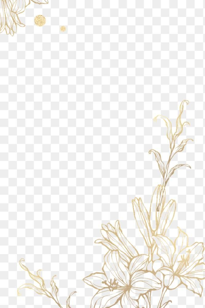 Download Premium Png Of Gold Floral Outline On Marble Background By Nunny About Flower Gli Flower Png Images Flower Graphic Design Flower Background Wallpaper