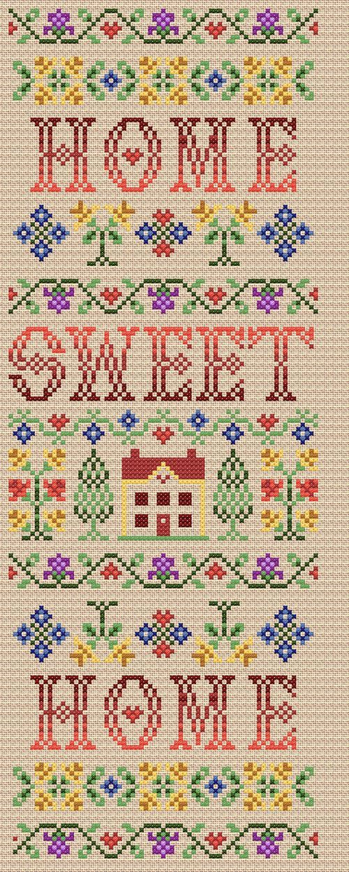 12 best Cross stitch home sweet home images on Pinterest