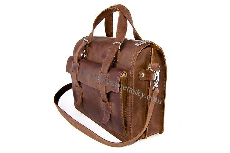 PÁNSKÉ TAŠKY PRO NOTEBOOK | Kožená taška Br.Bags LORCA - ručně šitá, dvoukomorová XXL | www.kozenetasky.com - Luxusní ručně šité kožené tašky