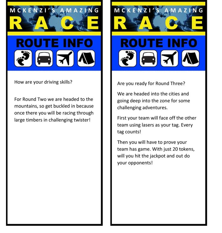 Amazing Race Route Info Template Bing Images