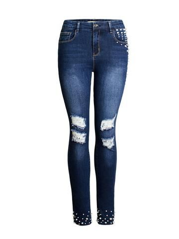 7ecf5b29a47 High-Waist Frayed Skinny Jeans | buy some jeans | Skinny Jeans ...