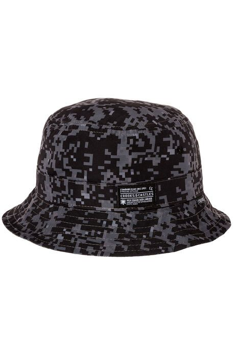 Crooks and Castles Hat The Reversible Bucket in Black