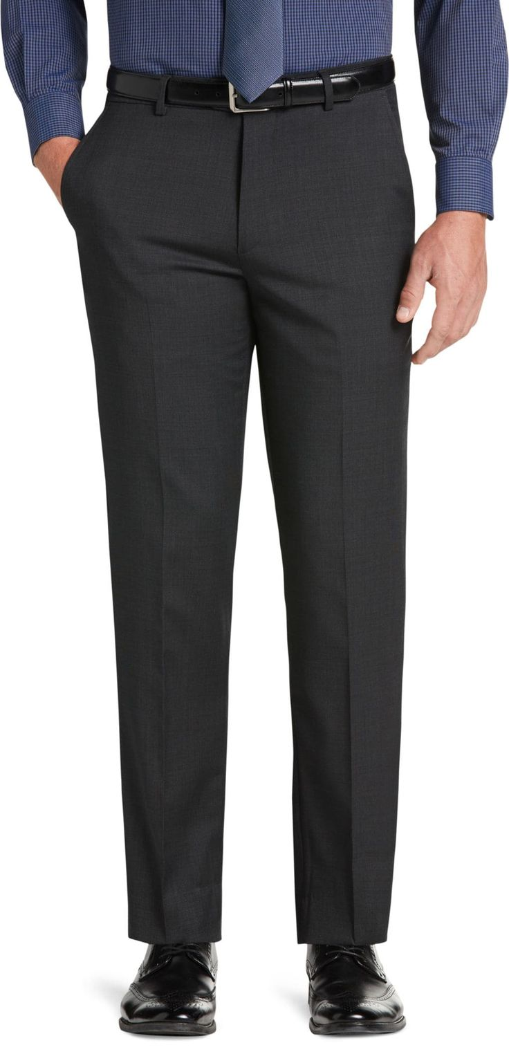Travel Tech Collection Slim Fit Tic Solid Flat Front Suit Separate Pants - Big & Tall