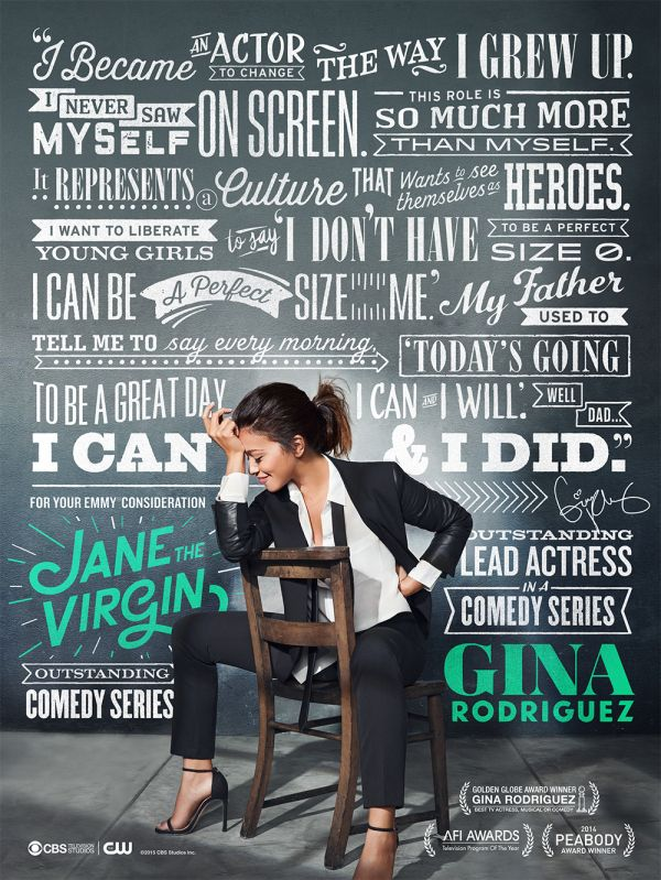 Jane the Virgin's Emmy campaign Ad 2015