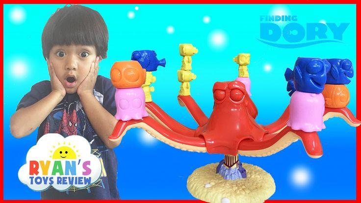 cool FINDING DORY GAME Disney Pixar Finding Nemo Egg Surprise Toys Family Fun Game Night Ryan ToysReview