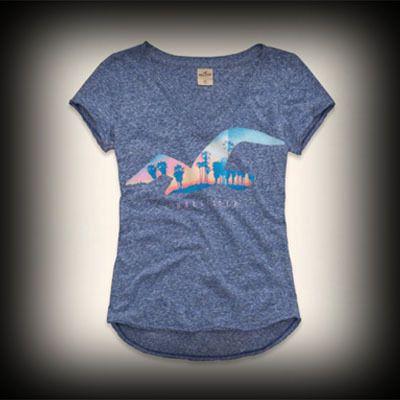 ホリスター レディース Tシャツ Hollister Woodson Mountain T-Shirt Tシャツ ★人気アメカジブランド。日本でも多くの有名人が愛用しているホリスター。話題の今季新作アイテム。 ★フロントのグラフィックがガーリーでかわいい!着回せるTシャツは何枚あっても便利♪