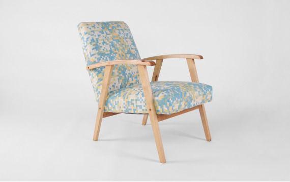 Fotel na sprężynach lata 60-te