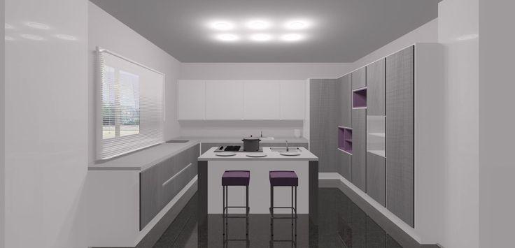 Questa cucina moderna ha nell'angolo un passaggio segreto! http://arredaremaleobene.blogspot.com/2014/07/dispensa-ad-angolo-passante.html