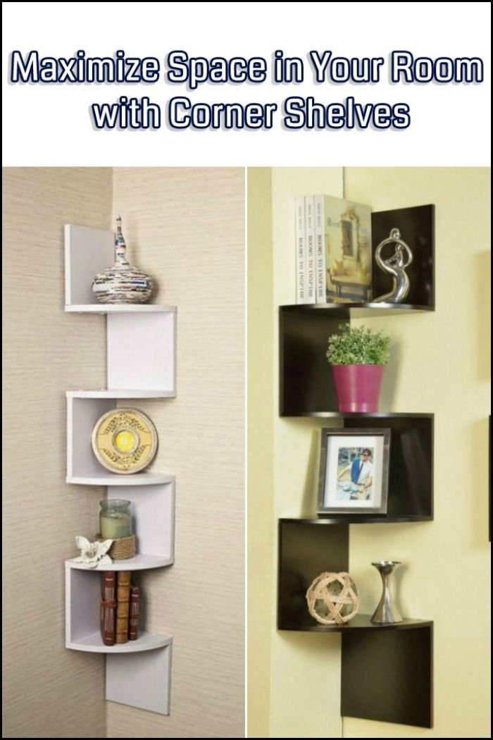 Every room has corners - most have four! This shelving idea makes the most out of any corner space.