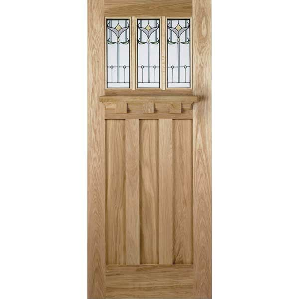 The LPD Tuscany Tulip Oak Exterior Door Is Available To Buy Online With BSOLPD Doors Are One Of Biggest Manufacturers In UK