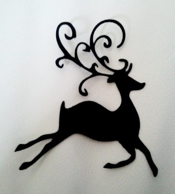 Image detail for -... CUTS > 8 x CHRISTMAS REINDEER SILHOUETTE Die Cuts Quality Black Card