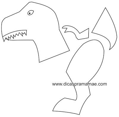 Moldes de Dinossauros feitos com bexigas - Dicas pra Mamãe
