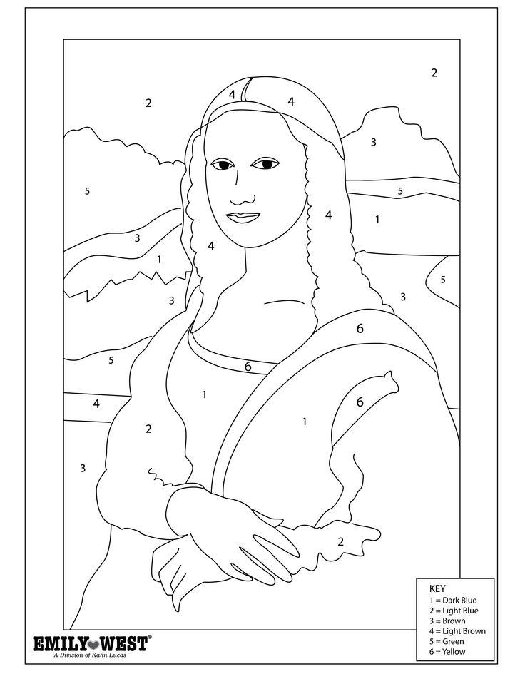 mona lisa printable coloring pages - photo#22
