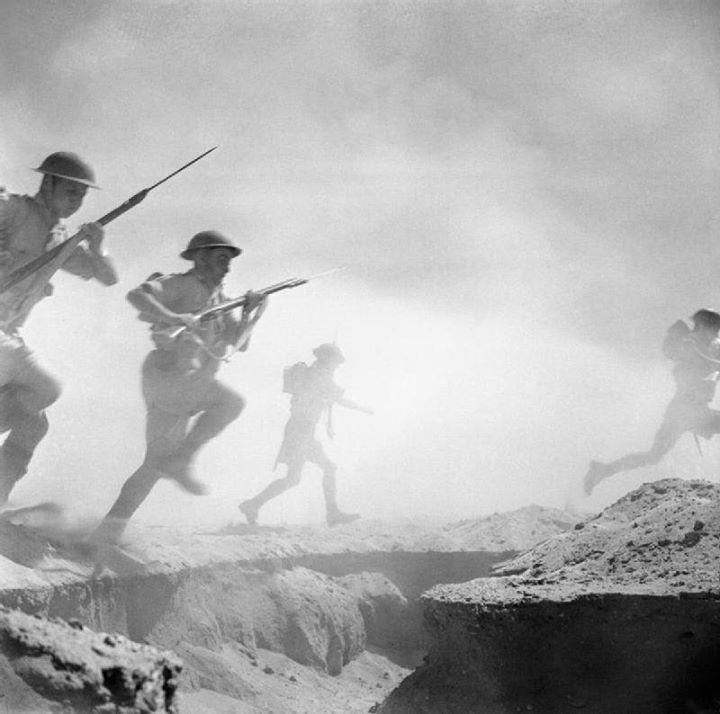 During the Second World War the Eighth Army was made up of units from many different countries in the British Empire and Commonwealth; it fought in North African and Italian campaigns.