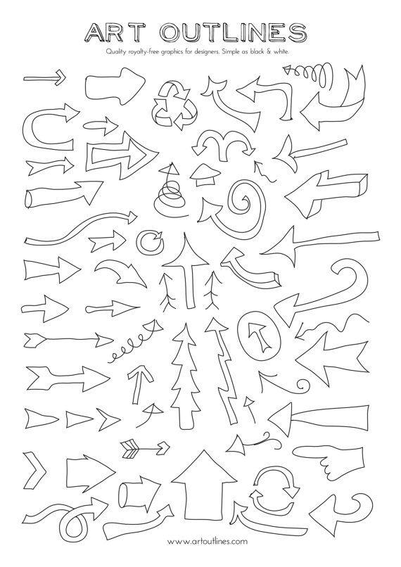 Out Line Art Design : Ideas about arrow illustration on pinterest