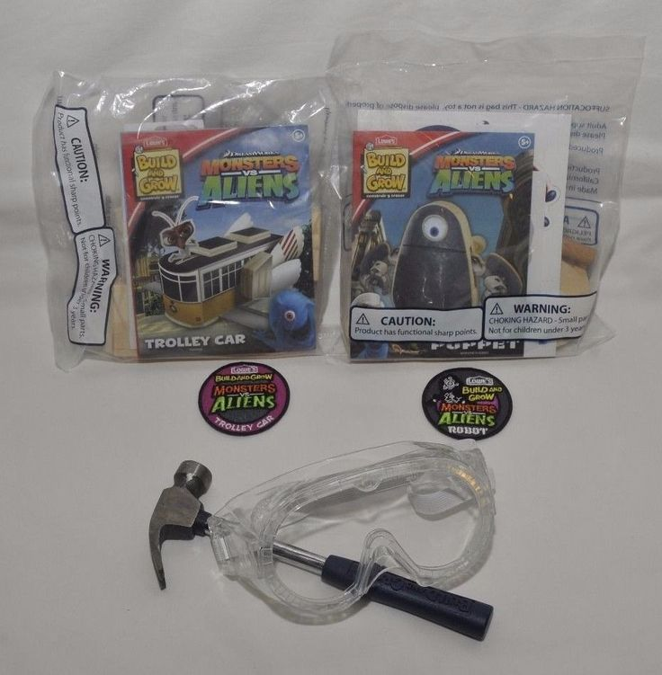 2014 Lowes Build & Grow 2 Monsters vs Aliens Kits with Patch, Goggles & Hammer   Find us on Ebay! 1.       Click on Advanced next to the Search Button 2.       Under the Tab Items click By Seller 3.       Enter uaintbad in the Enter Seller's User ID field