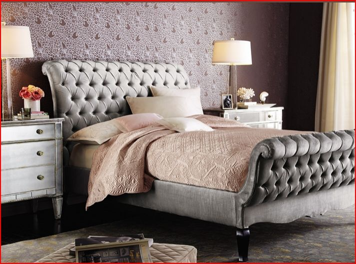 Quilted Headboard And Footboard Bed Old Hollywood