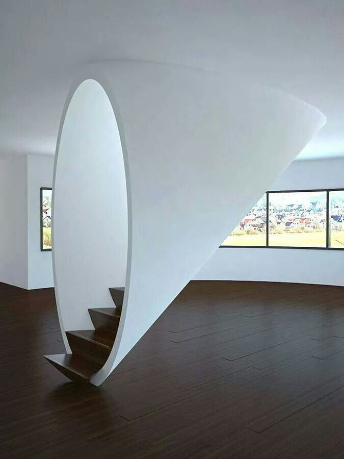 Clever design around some simple free standing stairways
