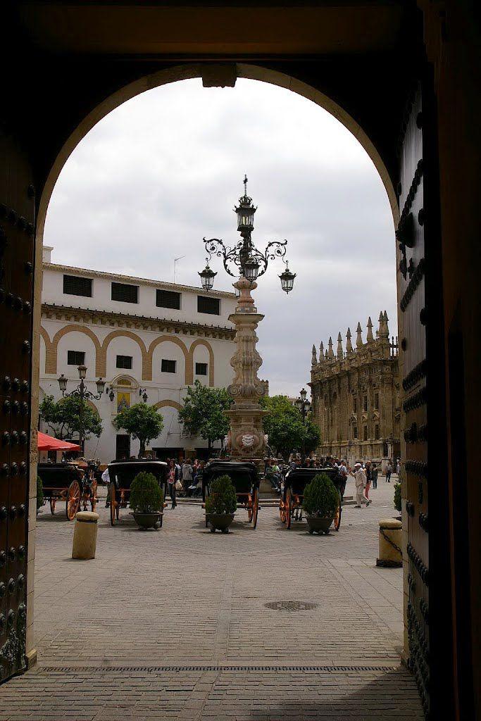 Plaza Virgen de los Reyes, Sevilla, Andalucia, España
