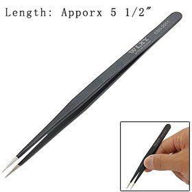 Compact Straight Extra Fine Point Slim Tweezer