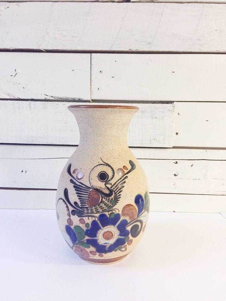 Vintage ceramic Mexican vase | southwestern vase by LeroyBrownFurnishing on Etsy