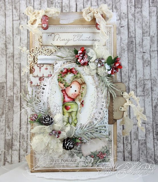 Holiday Wreath Tilda and sentiment / Camilla S. (Norway)
