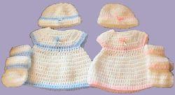 Mariyln's Preemie Dress free crochet pattern - hat 35dc