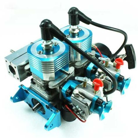 High Speed 52cc Gasoline Twin-engine - GH352 - Fuyuan R/C Model ...