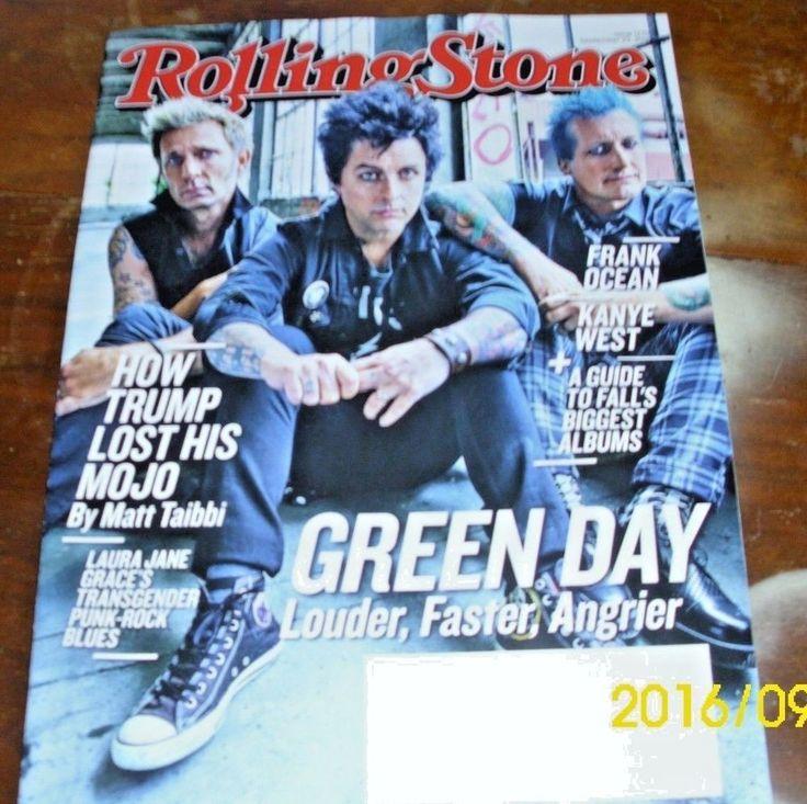 Rolling Stone Magazine September 2016 GREEN DAY Laura Jane Grace New Never Read