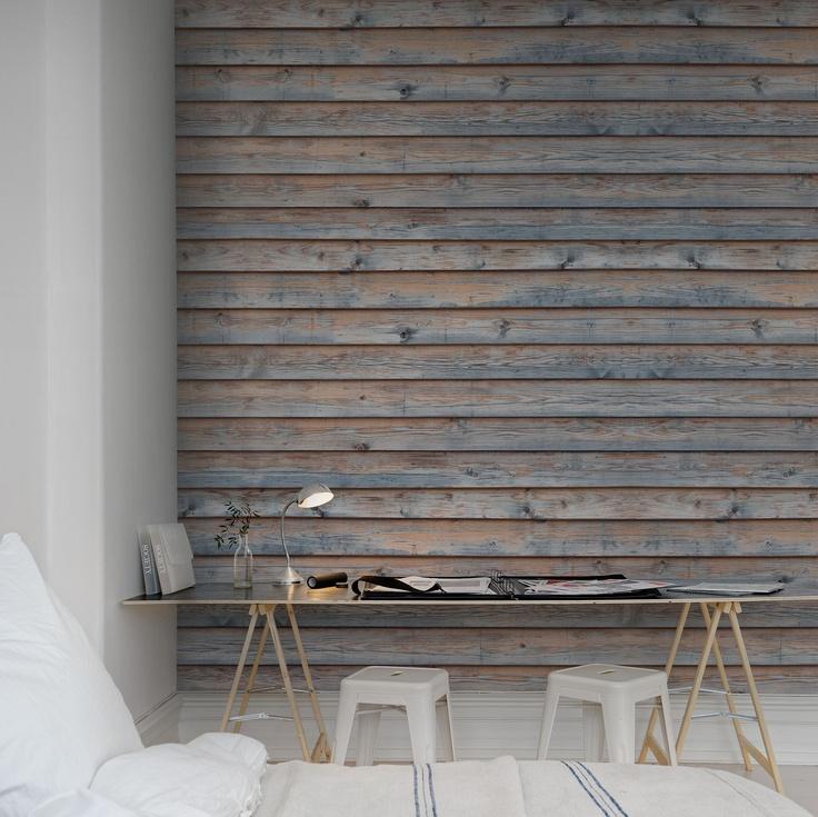 Taste for wood? #wallpaper - Horizontal Boards - rebelwalls.com