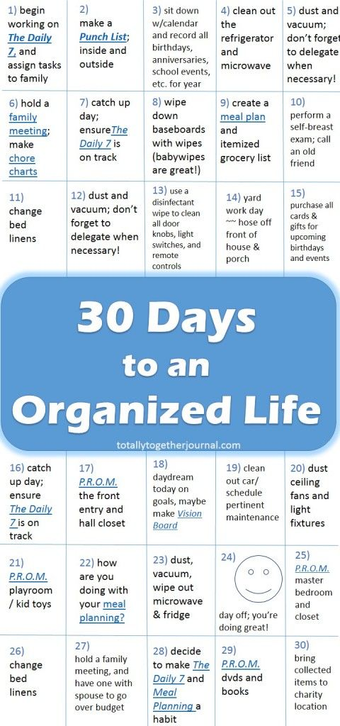 '30 Days to an Organized Life...!' (via totallytogetherjournal.com)