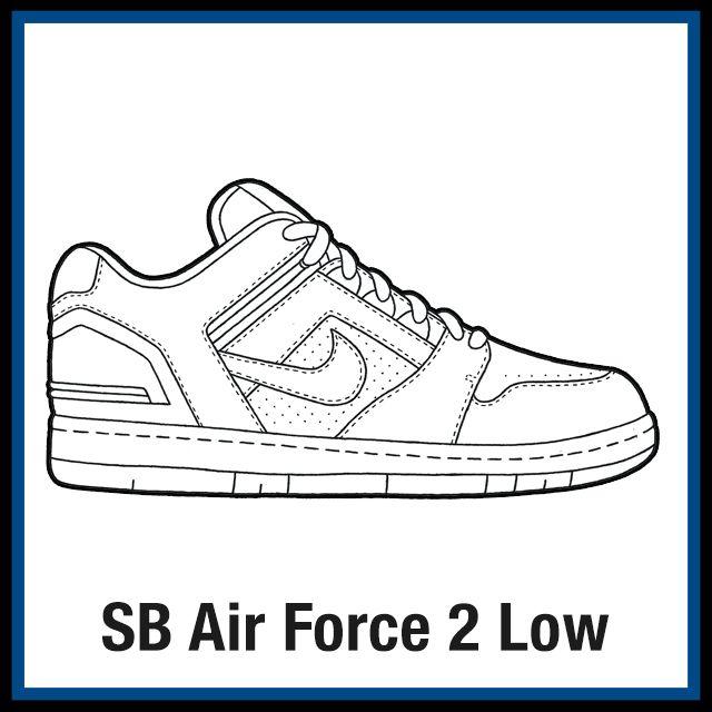 Nike Kicksart Nike Sb Air Force Shoes Drawing