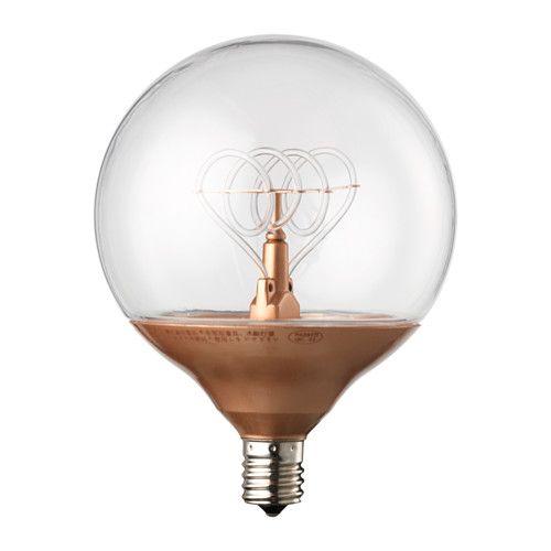 NITTIO LED bulb E14, globe copper-colour
