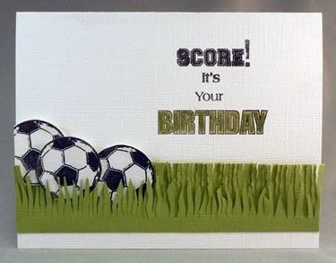 Soccer birthday card! Check out the Technique Tuesday blog for other sports.