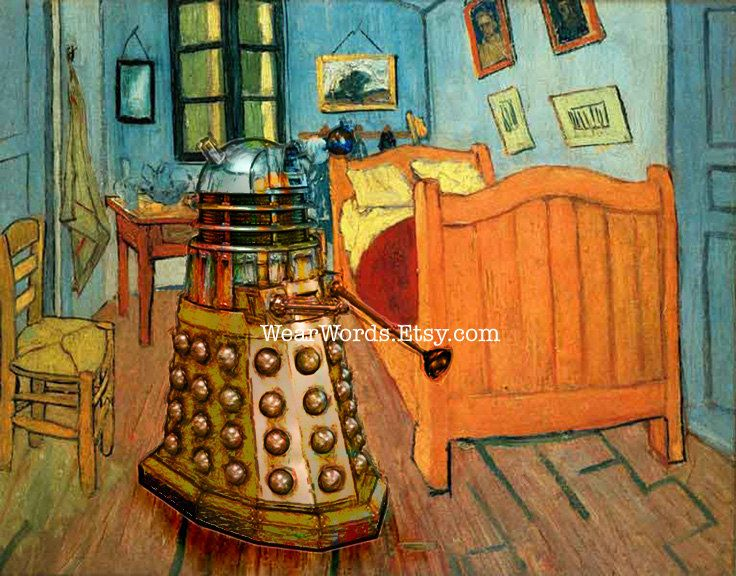 Doctor Who Dalek Parody Print Vincent van Gogh Bedroom in Arles Tardis31 best Art Parody  Bedroom in Arles images on Pinterest   Bedroom  . The Bedroom Van Gogh Painting. Home Design Ideas