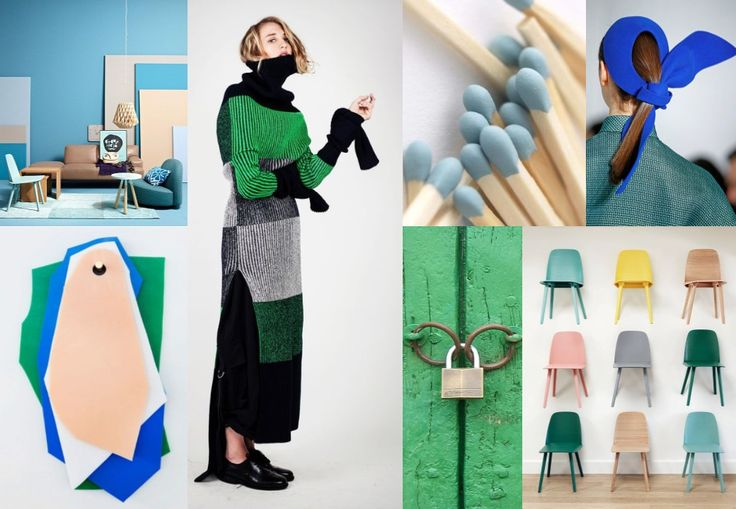 Color Play (green&blue) | Board Inspiration
