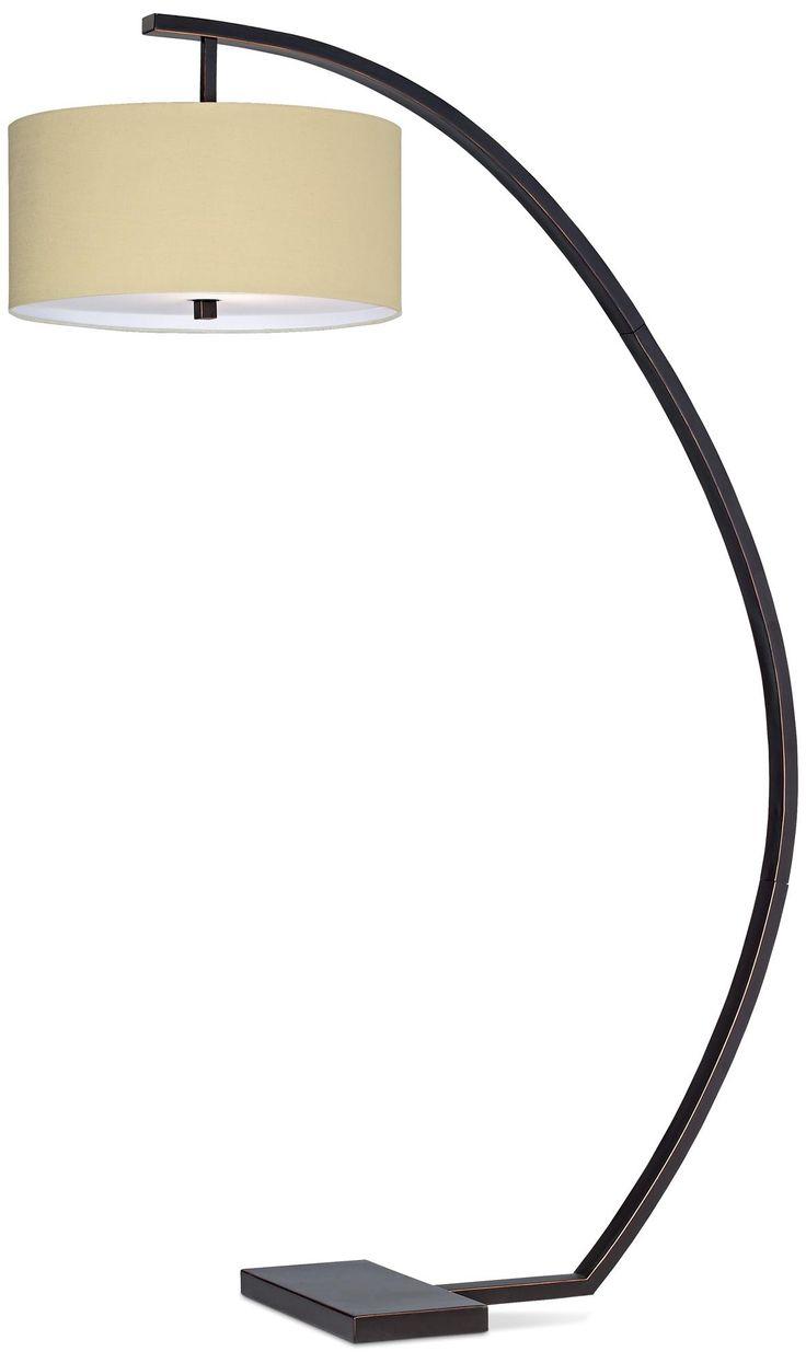 $398 Hanson Arc Floor Lamp | LampsPlus.com (for family room in corner by chaise)