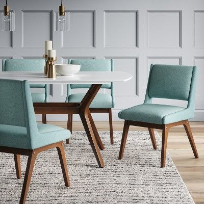 mid century dining chair teal project 62 in 2019 products mid rh pinterest com