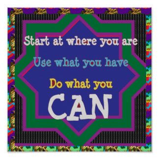 Quote Wisdom Text DO WHAT YOU CAN Poster
