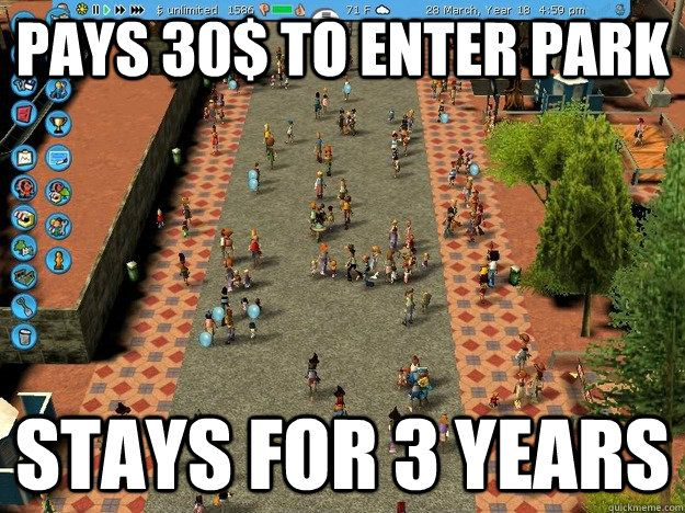 Economically Sound Roller Coaster Tycoon Guest...