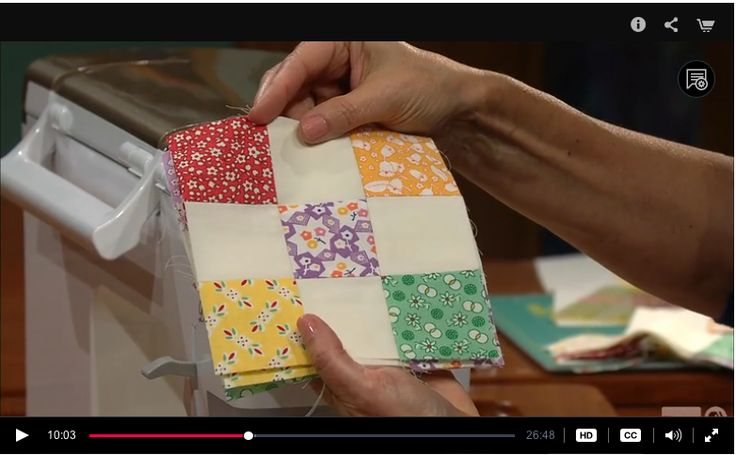 Change-up Patchwork Work, Sewing With Nancy Zieman, 9-patch block