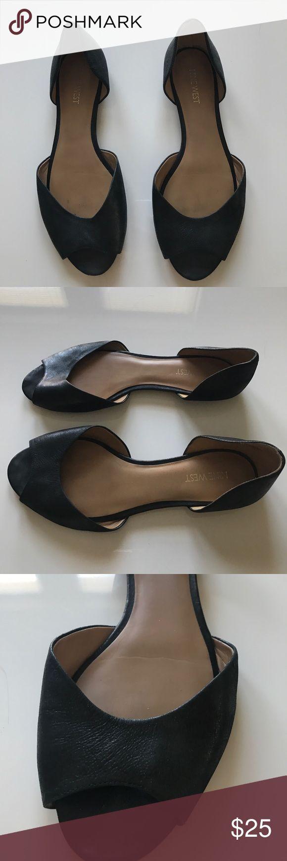 Nine West black leather flats - good condition Barely worn black leather Nine West flats - good condition Nine West Shoes Flats & Loafers