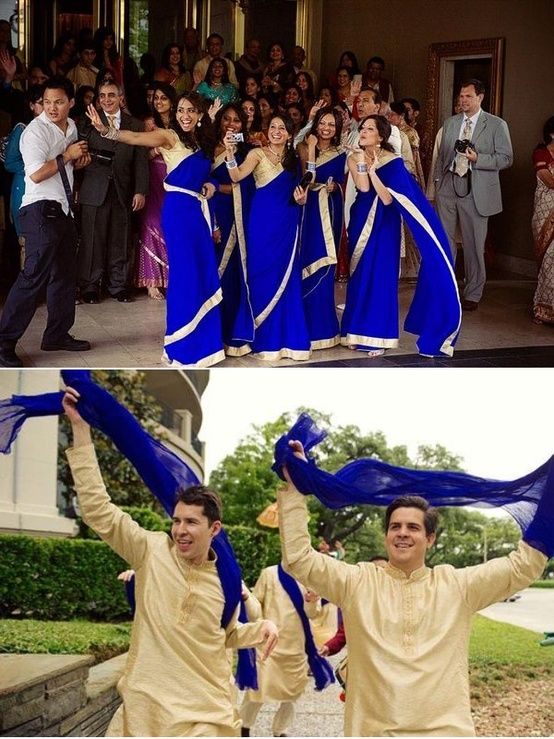 Indian dresses for bridesmaids and groomsmen